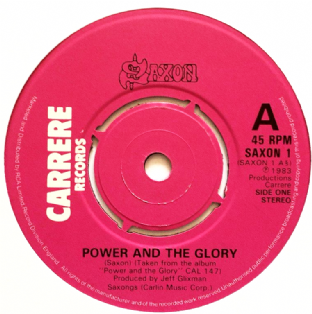 "Saxon ‎- Power And The Glory (7"") (G+/NM)"